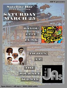 AR*V (aka Acous'mix Re*View)‎AR*V presents: BayouCityFunk TightnUp TheJourneyAgents